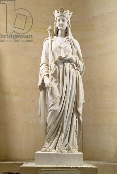 Blanche of Castile (1188-1252) Queen of France, 1837 (marble)