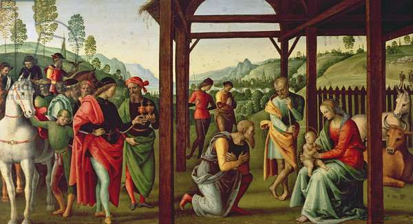 The Adoration of the Magi (oil on panel) (see also 94949)