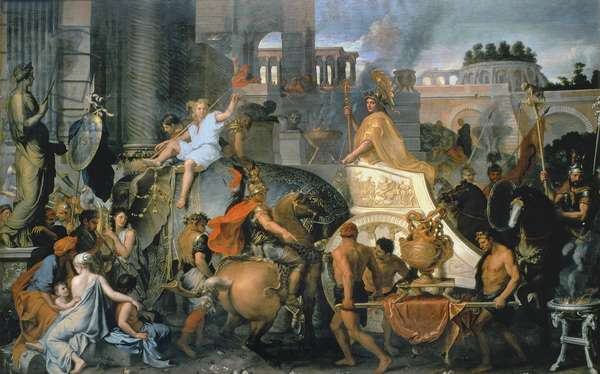 The Triumph of Alexander, or the Entrance of Alexander into Babylon, c.1673 (oil on canvas)