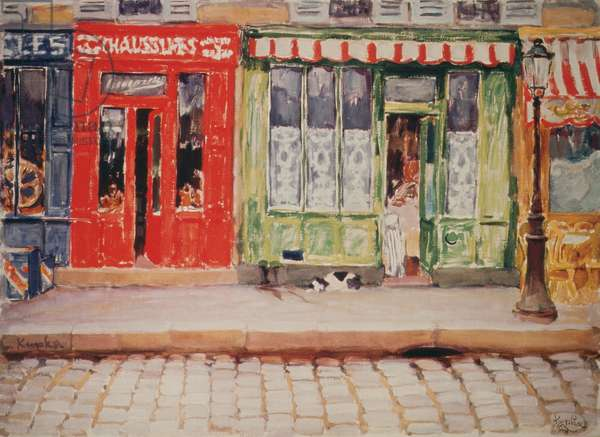 Colours as Adjectives, The Shops, 1908-10 (oil on canvas)