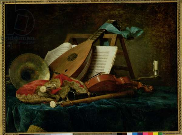The Attributes of Music, 1770 (oil on canvas)