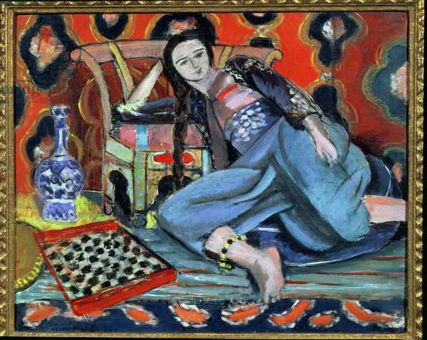 Odalisque with a Turkish Chair, 1928 (oil on canvas)