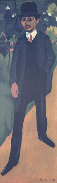 Portrait of Erich Heckel (1883-1970) 1911 (oil on canvas)