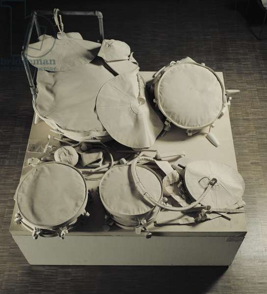 Ghost Drum Set, 1972 (mixed media)