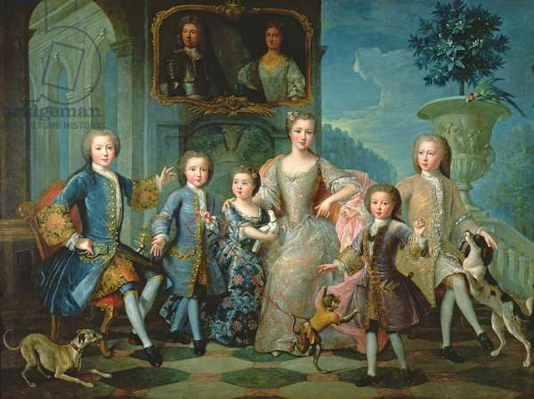 Portrait of the Family of the Duke of Valentinois (oil on canvas)