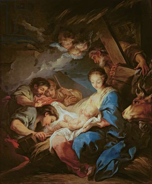 The Adoration of the Shepherds (oil on canvas)