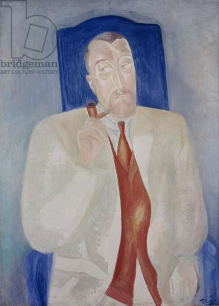 Portrait of Paul Poiret (1879-1944) French dress designer (oil on canvas)