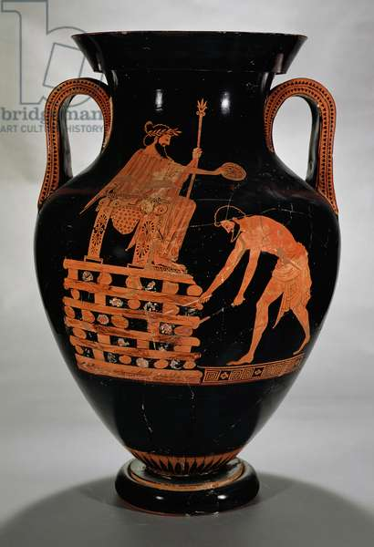 Attic red-figure belly amphora depicting Croesus on his Pyre, from Vulci, c.500-490 BC (pottery)