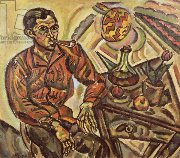 Portrait of Vincens Nubiola (Man with Pipe), 1917 (oil on canvas)