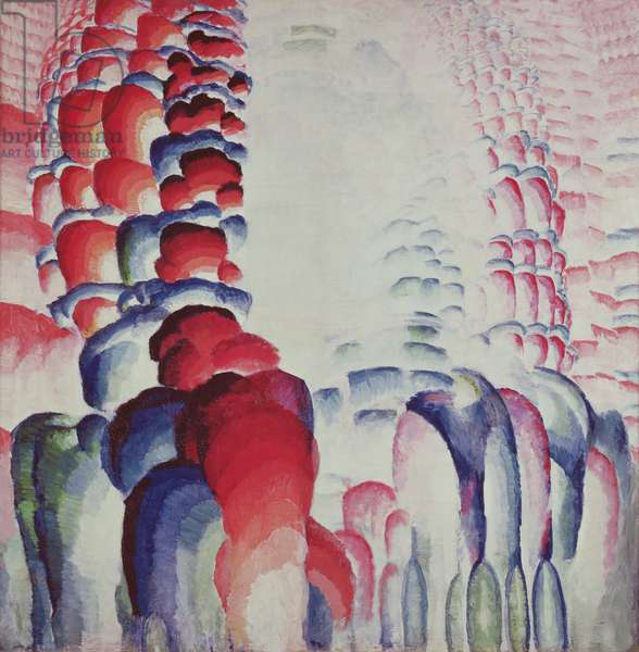Hindu Motif, or Graduated Red, 1919-23 (oil on canvas)