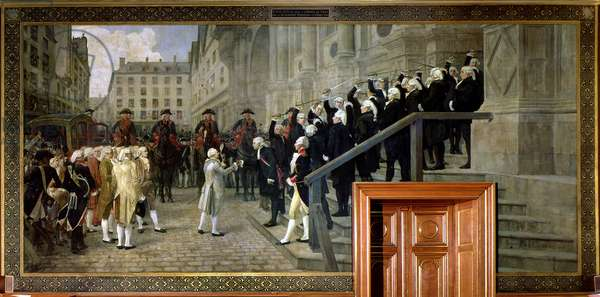 The Reception of Louis XVI at the Hotel de Ville by the Parisian Municipality in 1789, 1891
