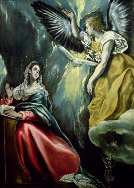 The Annunciation, c.1575 (oil on canvas)