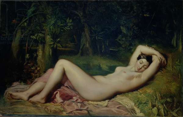 Sleeping Nymph, 1850 (oil on canvas)
