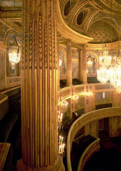Interior view of the Opera House looking towards the Royal Box, completed in 1770 (restored 1952-71) (photo)