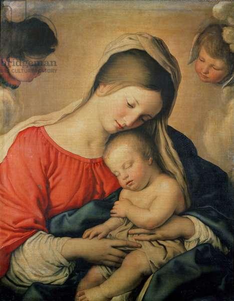 The Sleeping Christ Child (oil on canvas)
