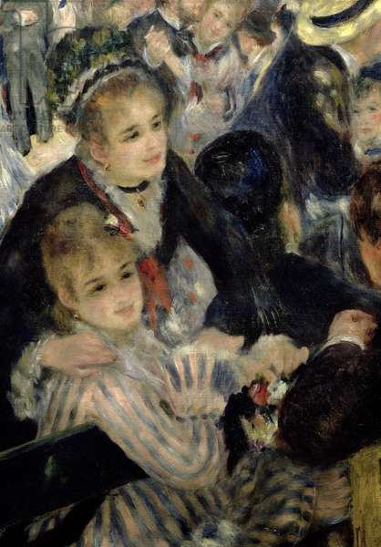 Ball at the Moulin de la Galette, detail of two seated women, 1876 (oil on canvas) (detail of 36481)