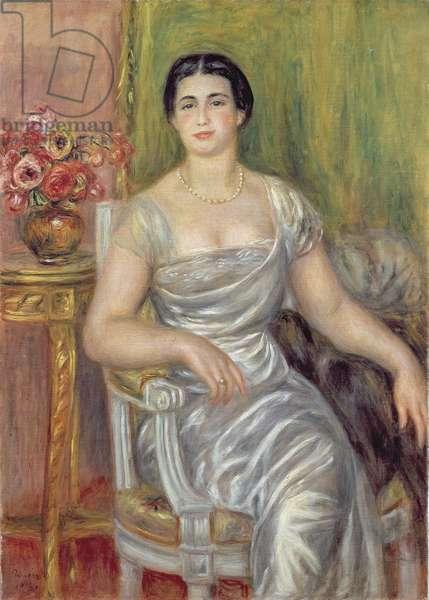 Portrait of the poetess Alice Valliere-Merzbach, 1913