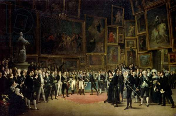 Charles X presenting awards to the artists at the end of the exhibition of 1824