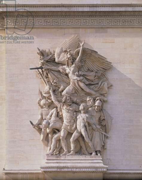 The Departure of the Volunteers in 1792 or The Marseillaise, 1833-36 (stone) (detail of 92543)