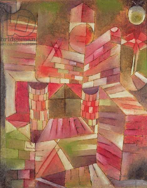 Architecture at the Window, 1919 (oil on panel)