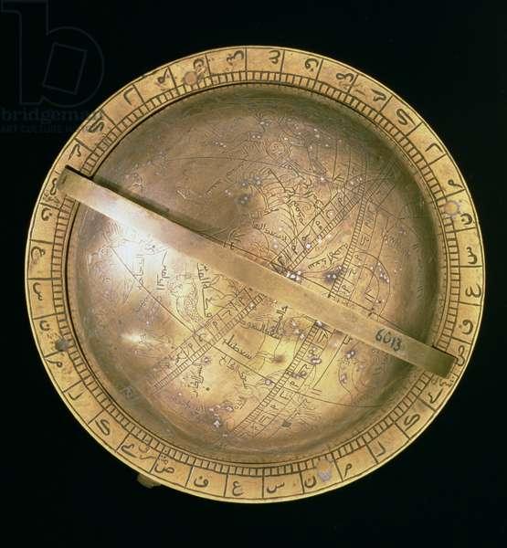 Celestial globe, Islamic, 1285 (brass)