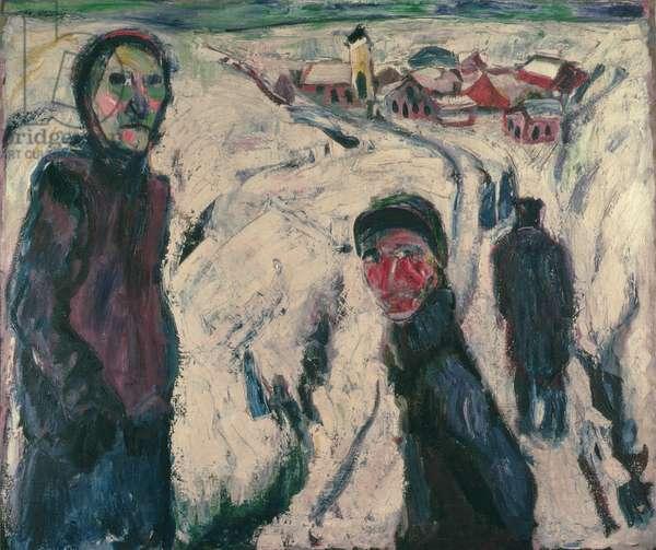 Snow Landscape, 1923 (oil on canvas)