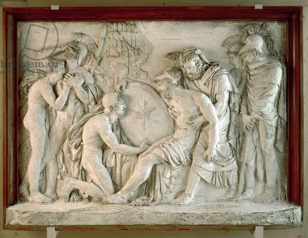 The Death of Achilles, 1811 (plaster)