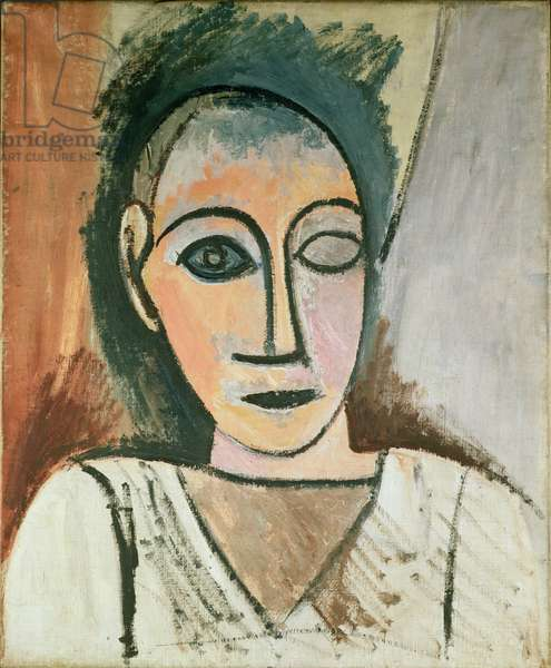 Bust of a Woman, study for Les Demoiselles d'Avignon, 1907 (oil on canvas)