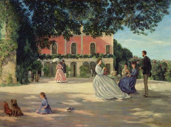 Family Reunion on the Terrace at Meric, 1867