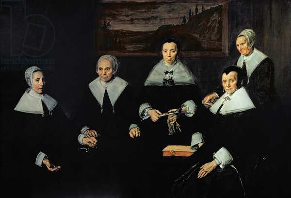 The Regentesses of the Old Men's Almhouse, Haarlem, 1664 (oil on canvas)