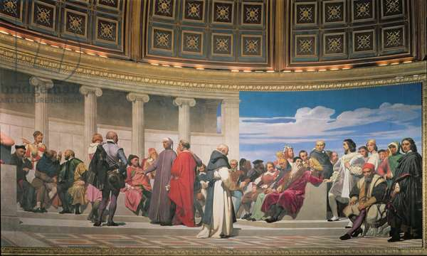 Hemicycle: Artists of All Ages, detail of the right hand side, 1836-41 (fresco) (see also 83553 and 83554)