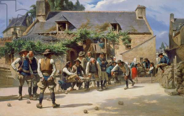 The Game of Boules at Pont-Aven, 1869 (oil on canvas)