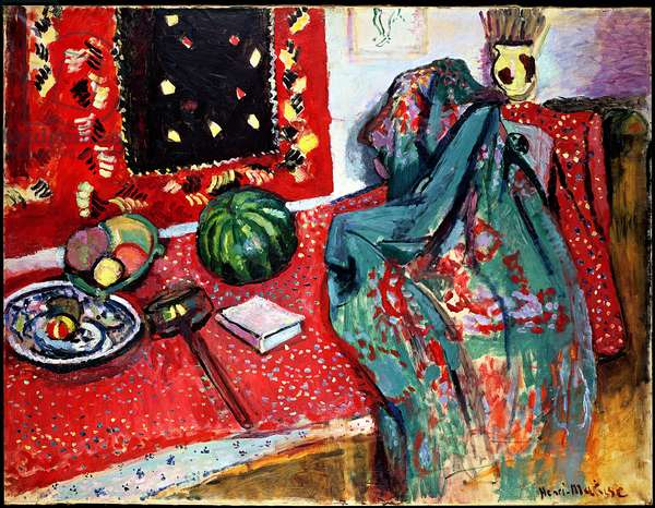 Still Life with a Red Rug, 1906 (oil on canvas)