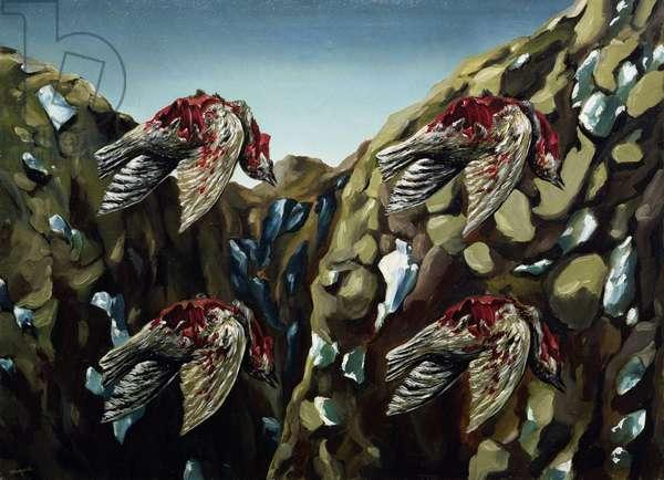 The Murderous Sky, 1927 (oil on canvas)