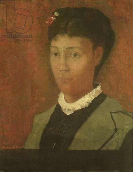 Portrait of the artist's wife, Madame Odilon Redon (nee Camille Falte) (1853-1923), 1882