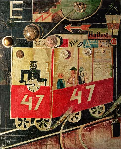 The Tram, 1919 (collage)