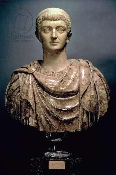Constantine I (c.274-337) c.350 AD (marble)