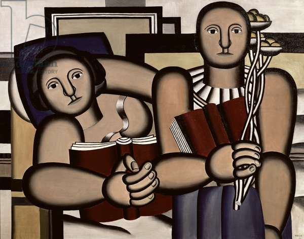 Reading, 1924 (oil on canvas)