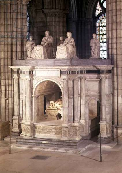 The tomb of Francis I (1494-1547) and his wife Claude of France, commissioned by Henri II, 1548 (marble)