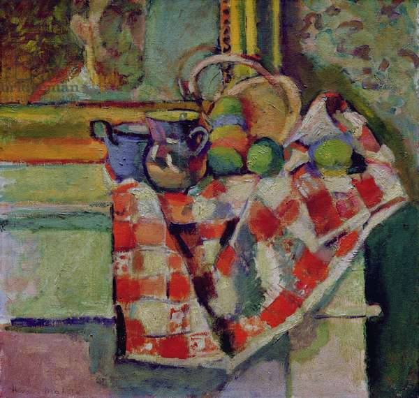 Still Life with a Checked Tablecloth, c.1903 (oil on canvas)