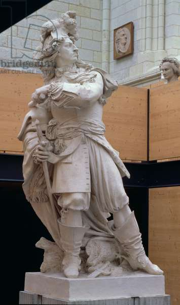 Louis II, 4th Prince of Bourbon and Conde (1621-86), 1817 (plaster)