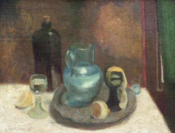 Still Life with a Lemon, or The Blue Carafe, 1895 (oil on canvas)