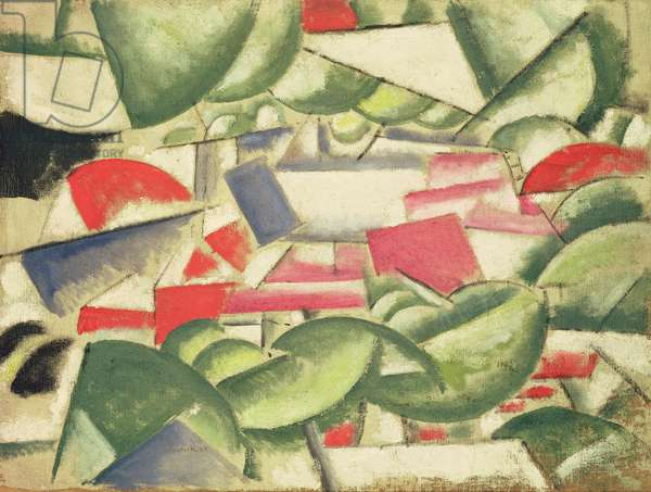 The Houses under the Trees, 1913 (oil on canvas)