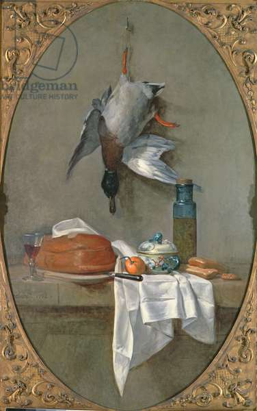 Still Life With Duck, 1764 (oil on canvas)
