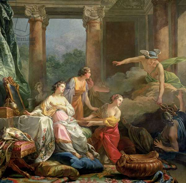 Mercury, Herse and Aglauros, 1763 (oil on canvas)