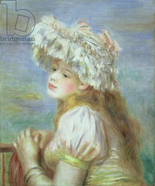 Portrait of a young woman in a lace hat, 1891