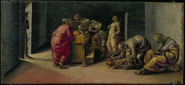 The Birth of St. John the Baptist (oil on panel)