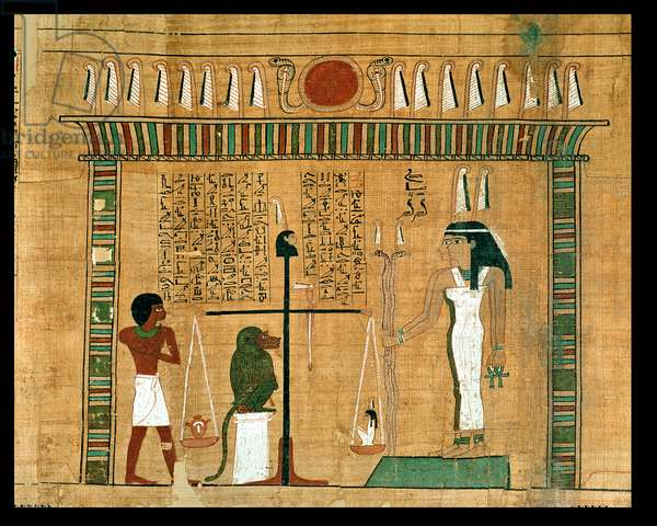 The Weighing of the Heart, detail from a page of the Book of the Dead (papyrus)