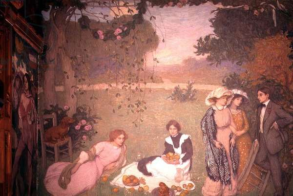 Lunch on the Grass, 1910 (oil on canvas)