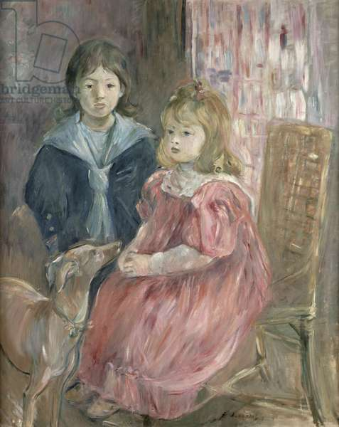 Double portrait of Charley and Jeannie Thomas, children of the artist's cousin, Gabriel Thomas, 1894 (oil on canvas)